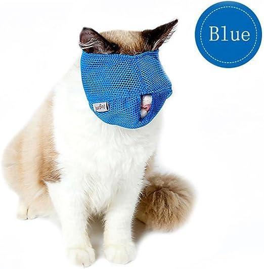 Zehui Bozal de gato transpirable de malla antiácaros con las mejores herramientas de viaje para gatos: Amazon.es: Productos para mascotas