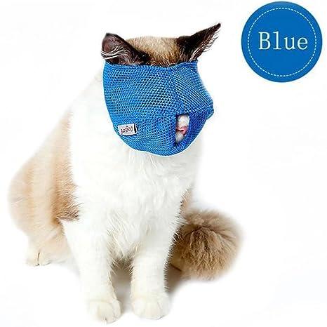 CYNDIE - Bolsa de baño para Gatos y Mascotas, Malla Transpirable, bozales antibícaros,