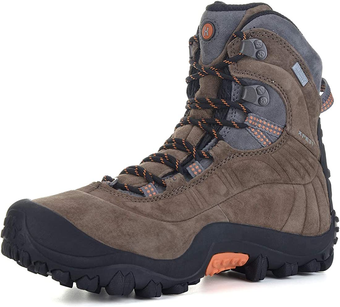 XPETI Mens Thermator Evo Mid High-Top Waterproof Leather Hiking Outdoor Boot