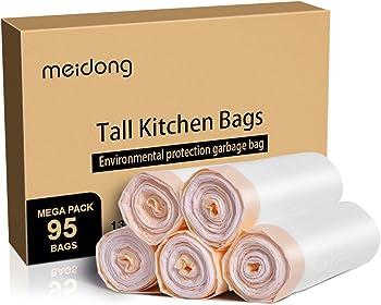 Meidong-13 Gallon Drawstring Trash Bags
