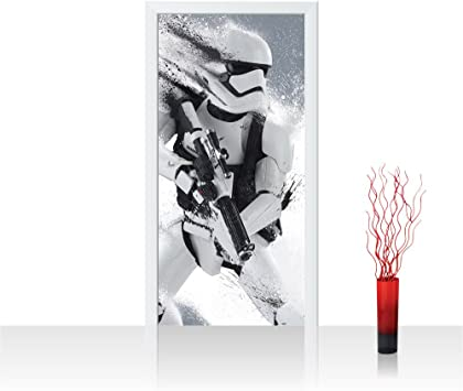 Non Woven Photo Door Wallpaper Self Adhesive 91x211 Cm Premium Plus Door Wall Sticker Mural Photo Star Wars Stormtrooper Children Cartoon Robot Helmet Weapon No 838 Amazon Co Uk Diy Tools