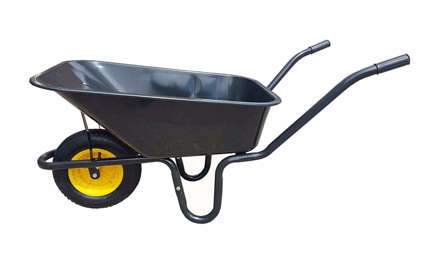 BARROW 110L DOUBLE WHEELBARROW WITH PUNCTURE PROOF WHEEL /& LIME GREEN PLASTIC BODY