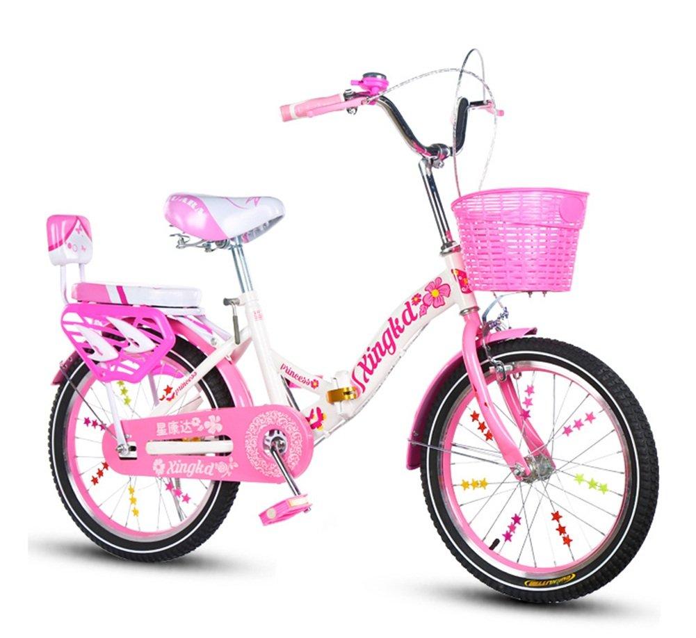 子供の自転車、クリエイティブ自転車プリンセス自転車は、衝撃の安全自転車の折りたたみの女の子の自転車の長さ115-125CMを減らす (色 : D, サイズ さいず : 110CM) B07CWCCC81 110CM|D D 110CM