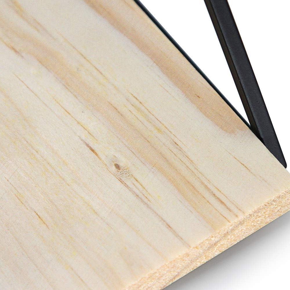cuisine salle de bain Design triangulaire unique Afuly Lot de 2 /étag/ères murales flottantes en bois rustique pour chambre /à coucher