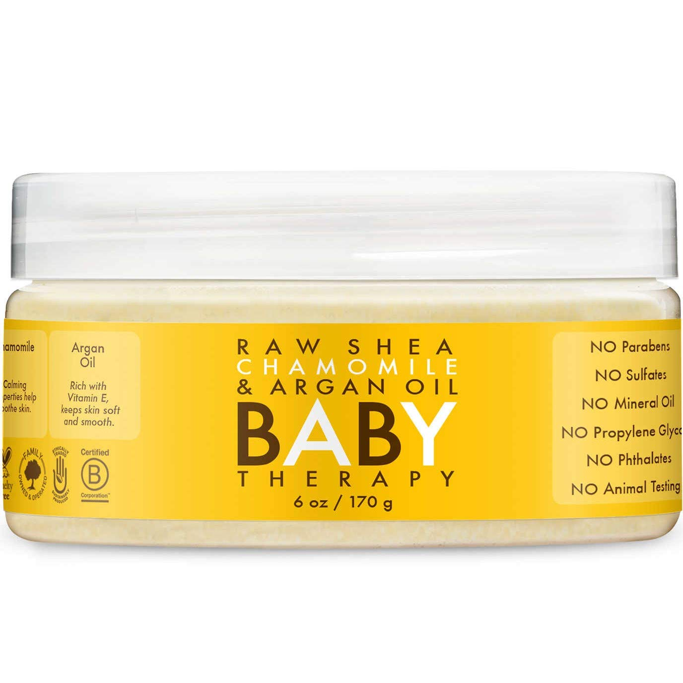 Shea Moisture Baby Therapy, Raw Shea Butter, Argan Oil & Extracts Of Frankincense & Myrrh, 6 Ounce by Shea Moisture