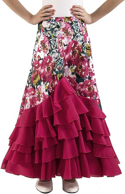 Falda de Mujer para Practicar Danza Flamenco o sevillanas. Made IN Spain: Amazon.es: Ropa y accesorios