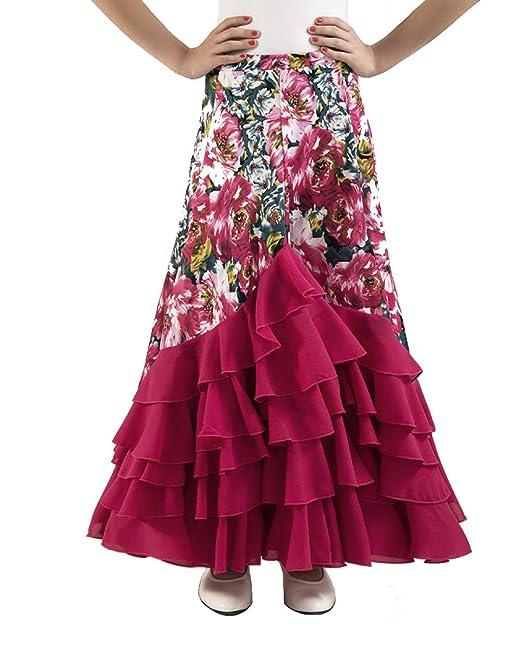 Anuka Falda de Mujer para Practicar Danza Flamenco o sevillanas: Amazon.es: Ropa y accesorios