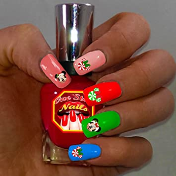 Amazon Christmas Disney With Mickey And Minnie Nail Art Decals