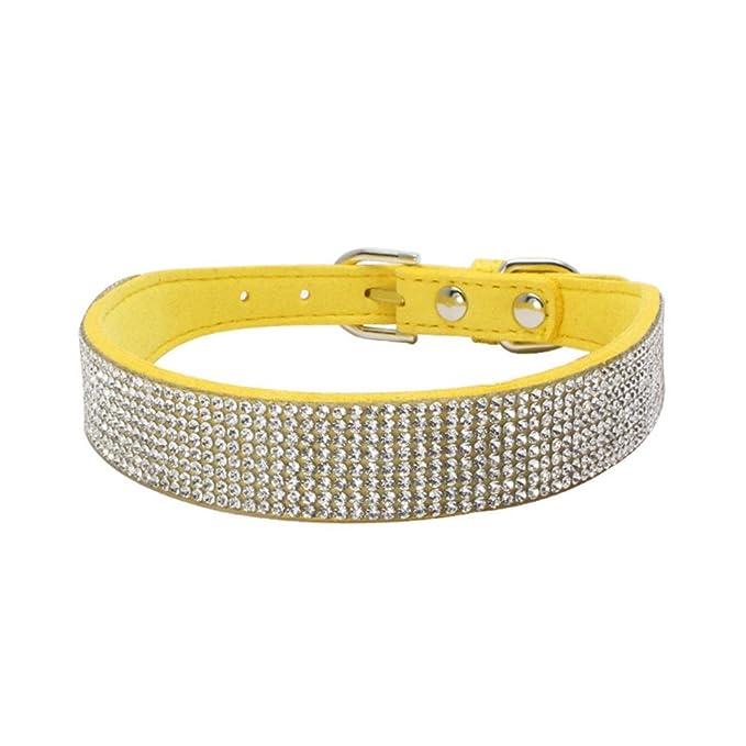 Collares Ajustables para Mascotas, ♥ ♥ Zolimx Collar para Mascotas con Diamantes de imitación para Perros y Gatos, Accesorios de Animales Elegantes: ...