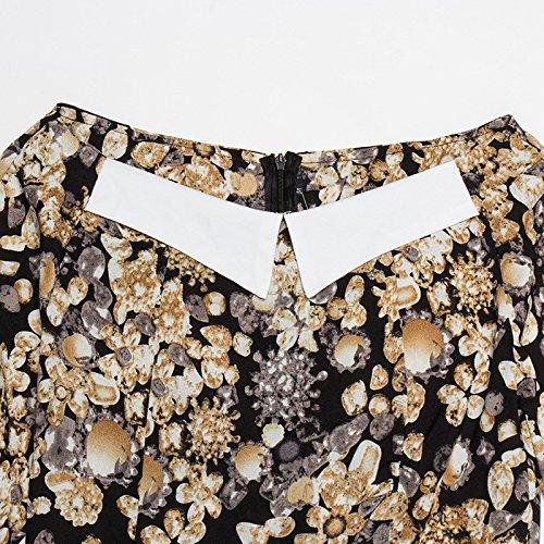 De Traje Picture XIU Flaco Impresión De Solapa Vestido Vestido De color Y RONG wOZIOqz