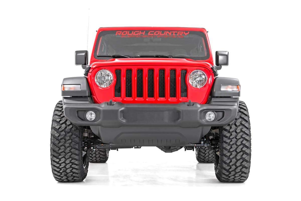 Rough Country 2.5 Lift Kit Compatible w// 2018-2019 Jeep Wrangler JL w// N3 Shocks Suspension System 67730