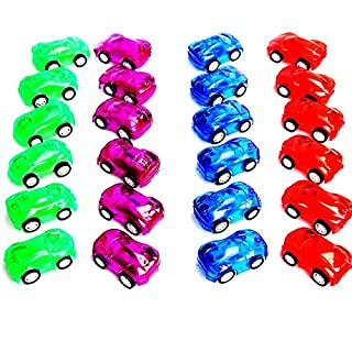 """Dazzling Toys 12 Pack 2"""" Pull Back & Let Go Racer Cars - 1 Dozen - Assorted Car Colors- Great for Party Favor, Birthday Theme, Enjoyment.."""