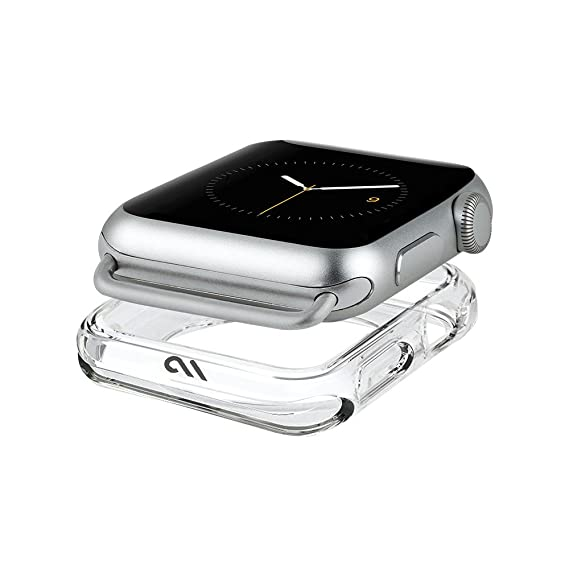 best service b6dfd 5d55c Case-Mate - Apple Watch Bumper Case - 42mm - NAKED TOUGH - Series 3 Apple  Watch - Clear