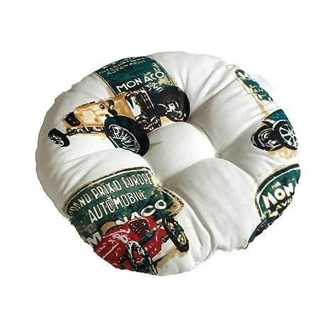 Amazon.com : Rough Cloth Round Cotton Linen Cushion ...