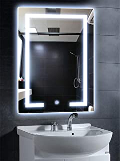Full Length Mirror With Led Bulb Lights Stainless Steel Amazonco
