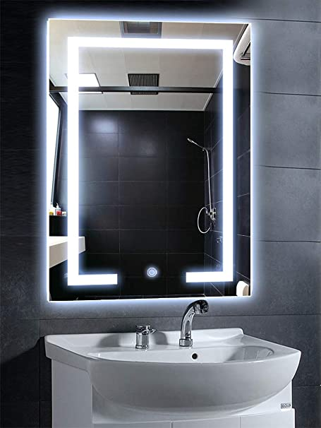 Philwin 80cmx60cm Wall Mounted Vanity Mirrorsrectangle Bathroom