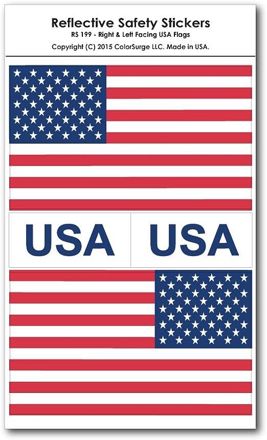 Izquierda y la derecha mirando reflectante calcomanías de bandera de EE. UU.: Amazon.es: Coche y moto