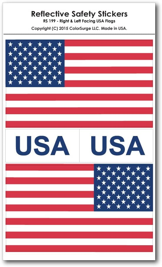 2x Side USA Flag Stripes American Stars Patriotic Car Truck Vinyl Sticker Decal