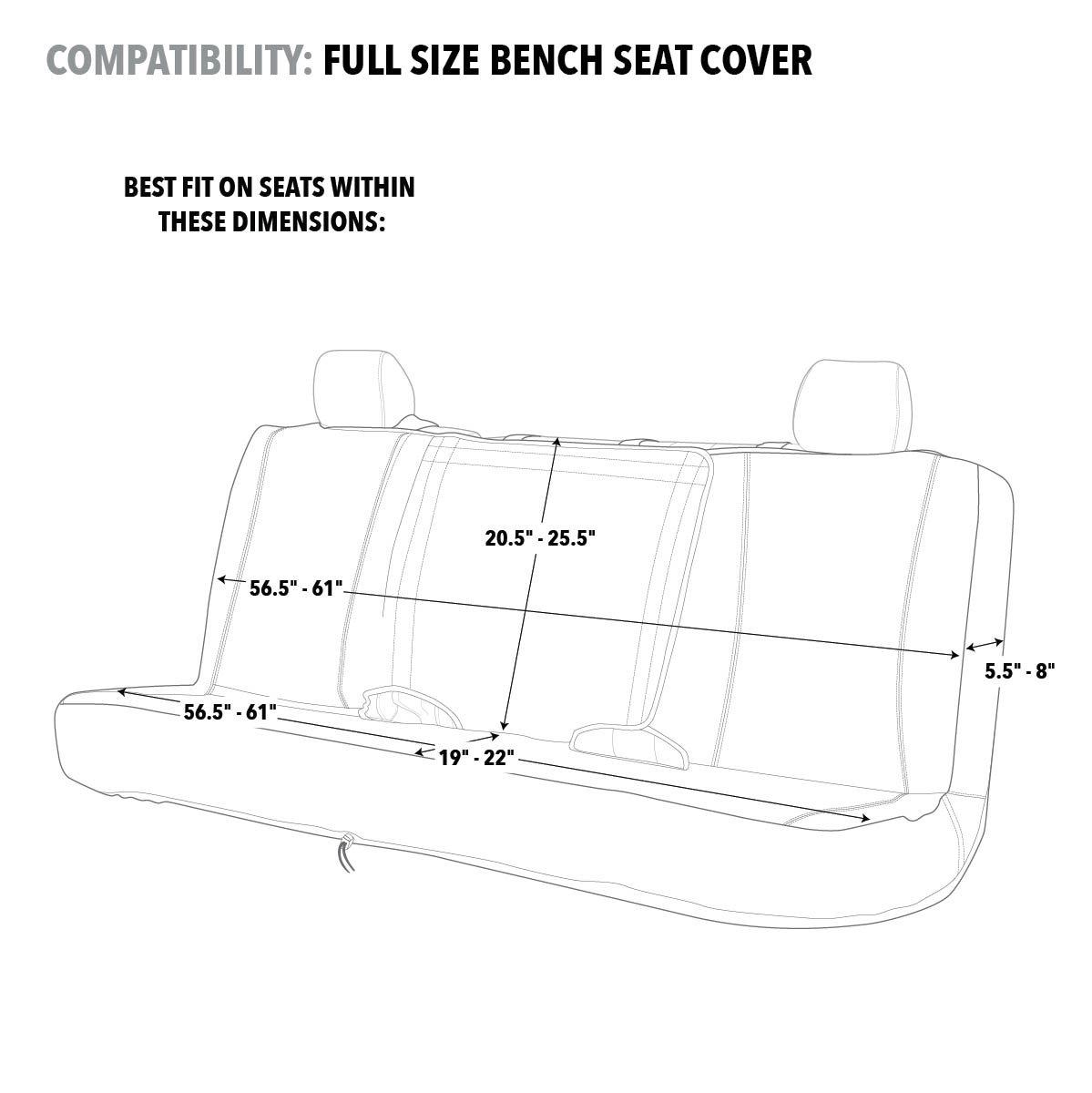 Amazon.com: Realtree Camo Seat Cover | Bench | AP Black | Full Bench:  Automotive