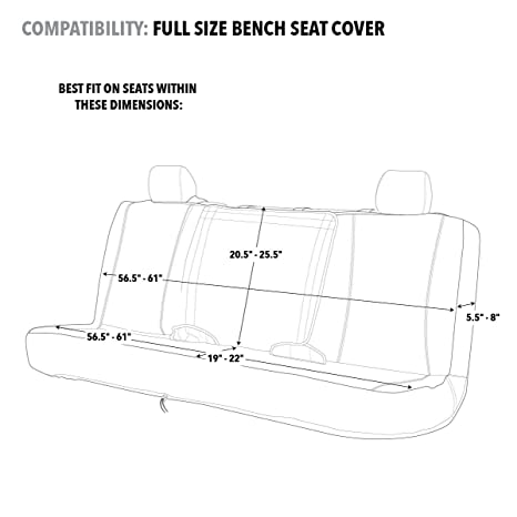 Exceptionnel Amazon.com: Mossy Oak Camo Seat Cover | Bench | Black/Country | Mid Bench:  Automotive