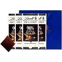 Lindt 瑞士莲 特醇排装90%黑巧克力100g*4块(送礼品袋)