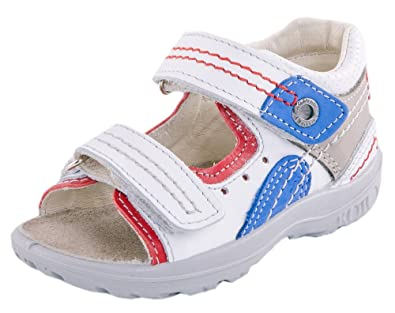 dbe0d099f3a0c Kotofey Toddler Boy White Sandals 122063-27 Genuine Leather Shoes For Kids  - Orthopedic Shoes