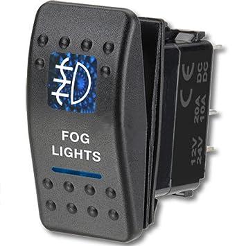Amazoncom E Support Car Blue LED Fog Light Toggle Switch Automotive