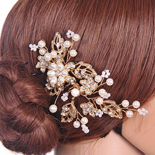 Remedios Gold Wedding Headpiece Bridal Comb Crystal Hair Accessory