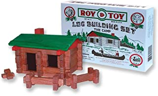 product image for Roy Toy 37 pc Log Camp, Made in The USA, Ages 4 and Up