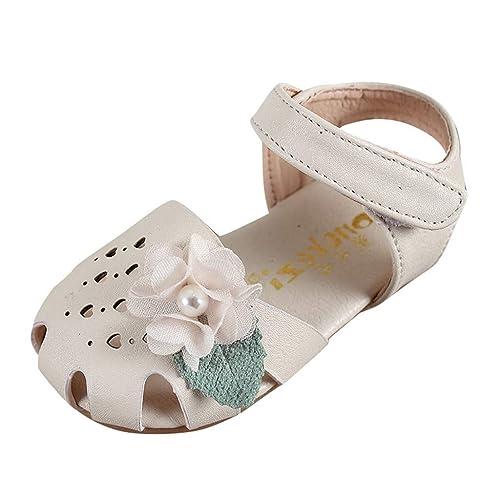 Mitlfuny Niñas Bebe Princesa Sandalias Zapatos de Cuero para Bebé ...