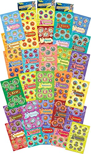 Dr. Stinky's Scratch N Sniff Stickers 30-Pack- Strawberry, Apple, Banana, Pizza, Garbage, Cherry, Birthday Cake, Chocolate, Cotton Candy, Campfire, Gummi Bear, Pineapple, Orange, Brownie, 810 Stickers]()