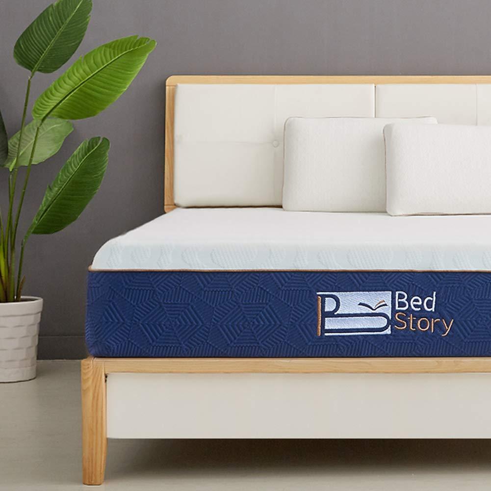 BedStory Lavender Memory Foam Mattress 12 Inch,Twin Mattress with CertiPUR-US Certified Foam, 10-Year Warranty