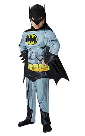 Rubies 610779 Disfraz Oficial de Batman para niños, superhéroe, cómic, para niños