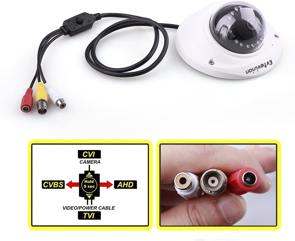 AHD//TVI//CVI//CVBS 4 In 1 HD 720P Mini Car Camera CCTV Camera with OSD Control New