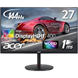 Acer ゲーミングモニター XV272UPbmiiprzx 27インチ IPS 非光沢 2560x1440 WQHD 400cd 1ms 144Hz