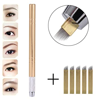 Amazon Com 3d Eyebrow Tattoo Microblading Blade Pen Pencil Manual