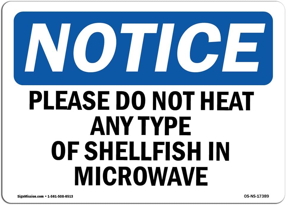 Microwave Oven In Use Notice OSHA ANSI LABEL DECAL STICKER