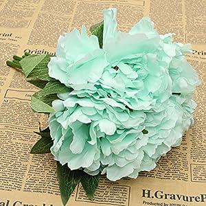 Bouquet (5PCS) Artificial Fake Silk Peony Bridal Hydrangea Flower Home Wedding 98