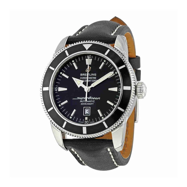 Breitling Superocean Heritage 46自動ブラックダイヤルブラックレザーメンズウォッチa1732024-b868bklt B0184RCFJ4
