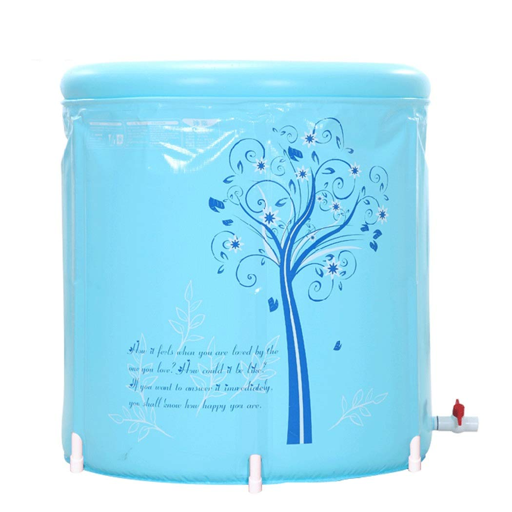 YONGYONG Household Folding Bath Tub Adult Tub Thickening Inflatable Bathtub Plastic Tub 60cm*65cm