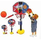 Amiu ミニ バスケットゴール バスケットボール バスケットボールセット 子供用 バスボールスタンド 高さ調節可能 二つボール付き 室内屋外兼用