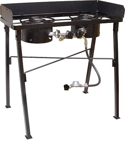 Amazon.com: King kooker cs33lp, color negro doble quemador ...