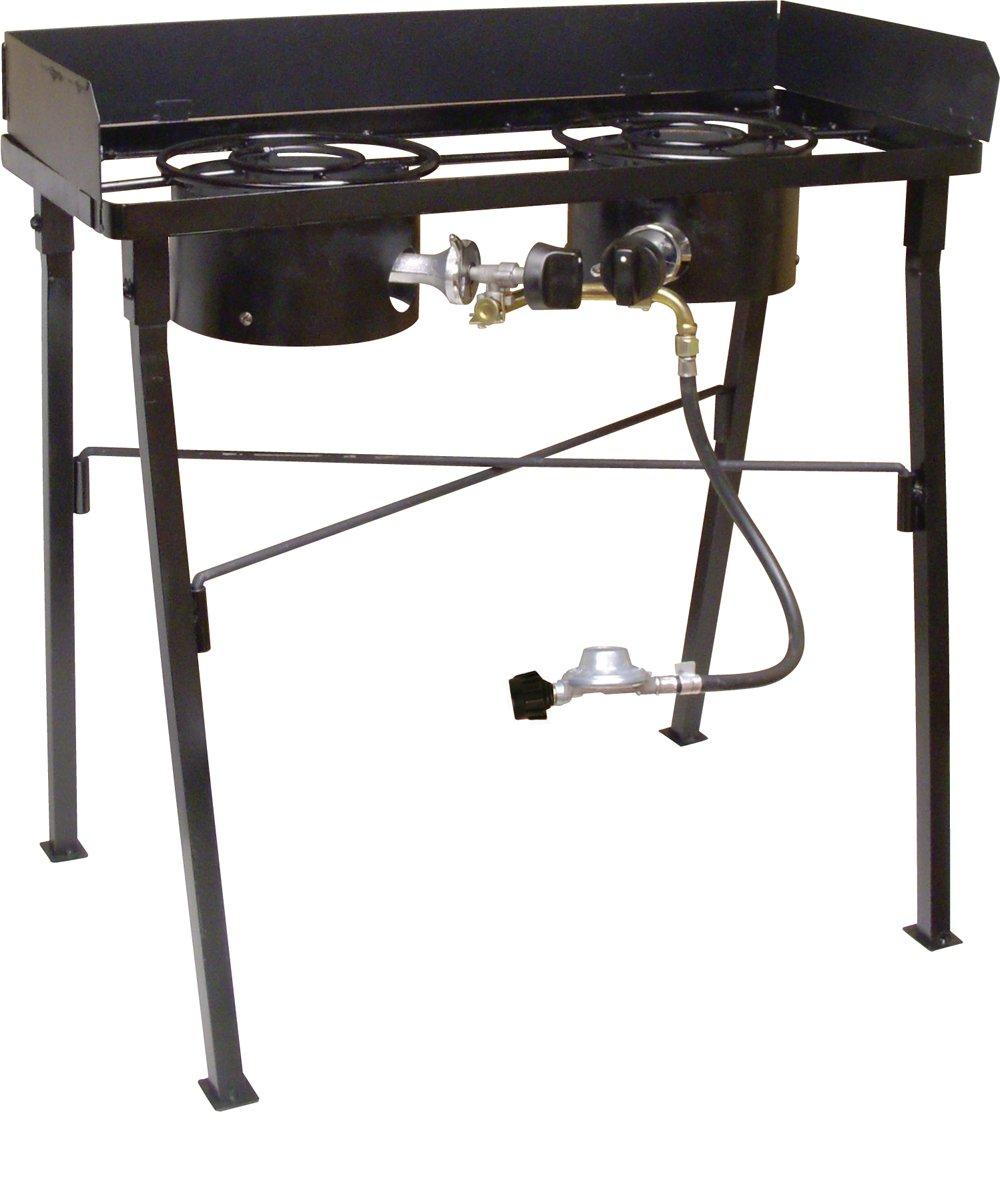 King Kooker  CS33LP, Black  Double Burner Low Pressure Camp Stove