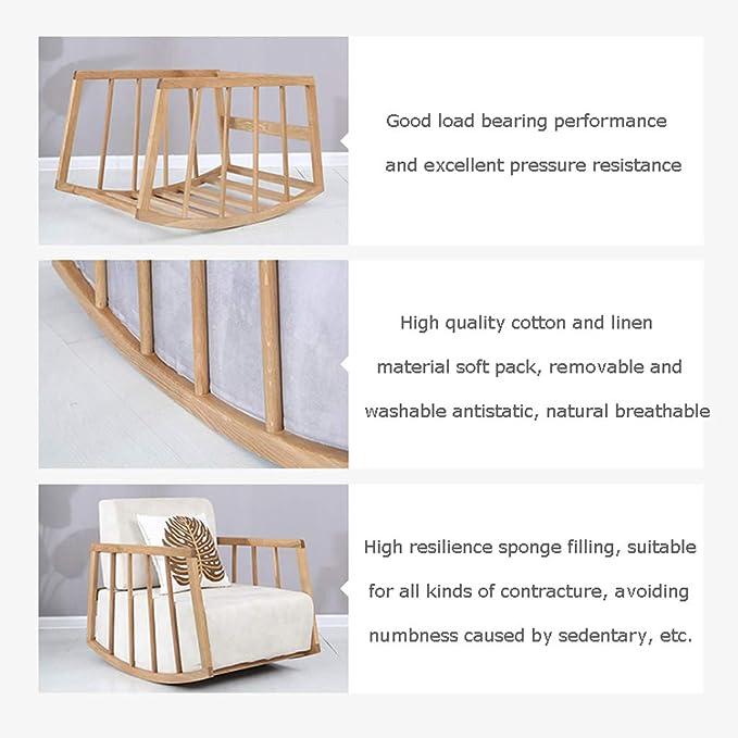 Amazon.com: Mecedoras de casa de madera maciza reclinable ...