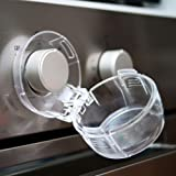 Stove Knob Covers for Child Safety, Large, 5 Pack, Kitchen Safety Guards for Kids, Baby, Toddler, Clear Oven and Gas Knob Cov