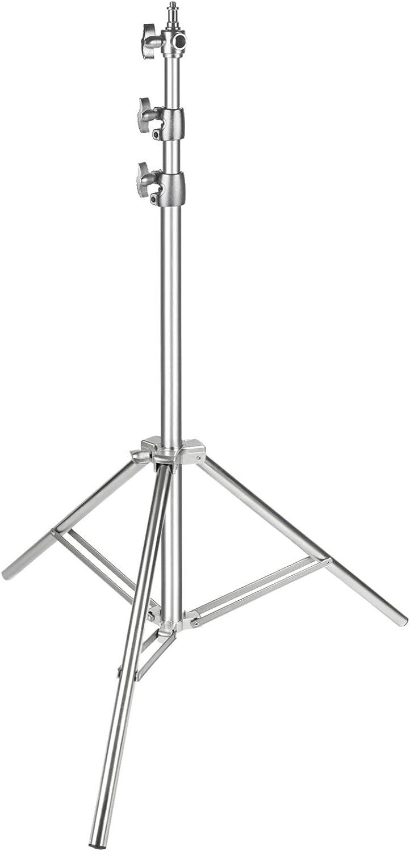 Neewer–Soporte para luz de Acero Inoxidable, 220cm, Plegable y portátil, Muy Resistente para Softbox de Estudio, Monolight y Otros Equipos de fotografía (Plata)