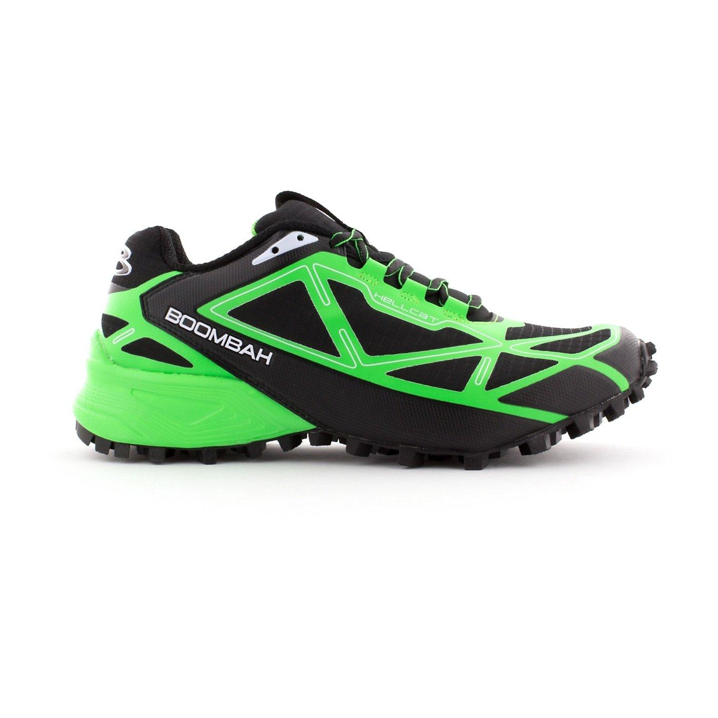 Boombah Men's Hellcat Trail Shoe - 14 Color Options - Multiple Sizes B073X71DBP 14|Black/Lime Green