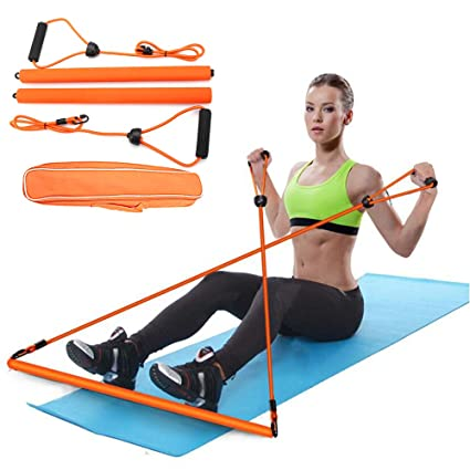 Amazon com : PLAFIT Pilates Stick Yoga Pilates Bar Portable