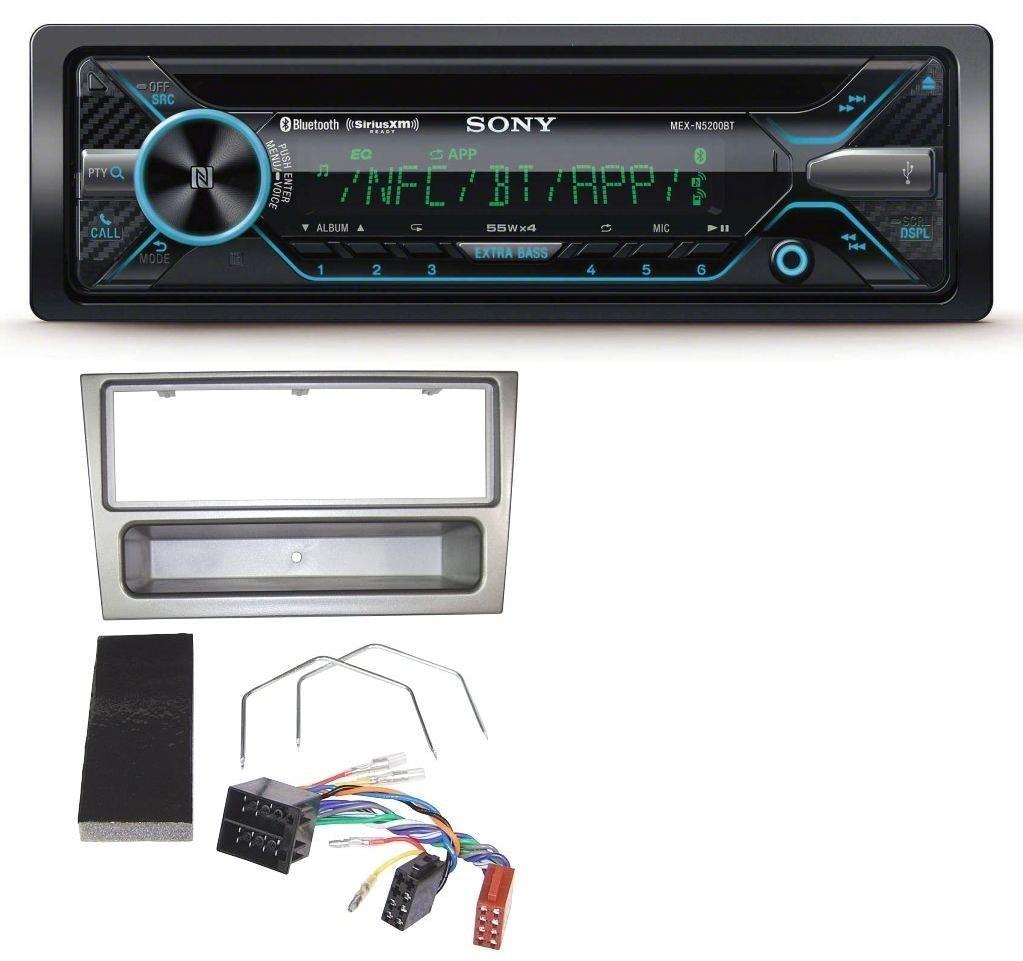 Sony MEX-N5200BT Bluetooth Aux USB MP3 CD Autoradio fü r Opel Corsa C Meriva Signum Vectra C 2000-2004 Charcoal caraudio24