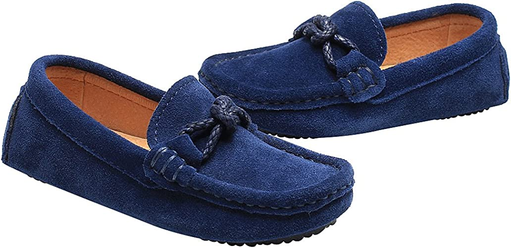 Shenn Gar/çons Fl/âneurs Appartements Talon Confort Glisser sur Su/ède Mocassins Chaussures